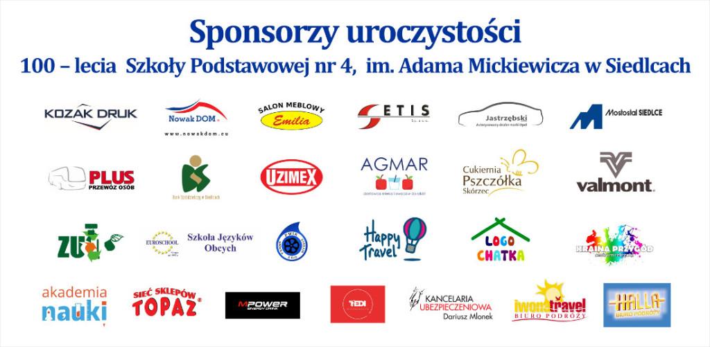 sponsorzy tablica