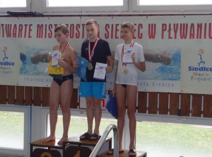 Maciej Nieczyporuk podwójnym zwycięzcą Otwartych Mistrzostw Siedlec w Pływaniu