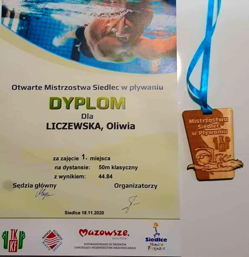 I miejsce Oliwii Liczewskiej
