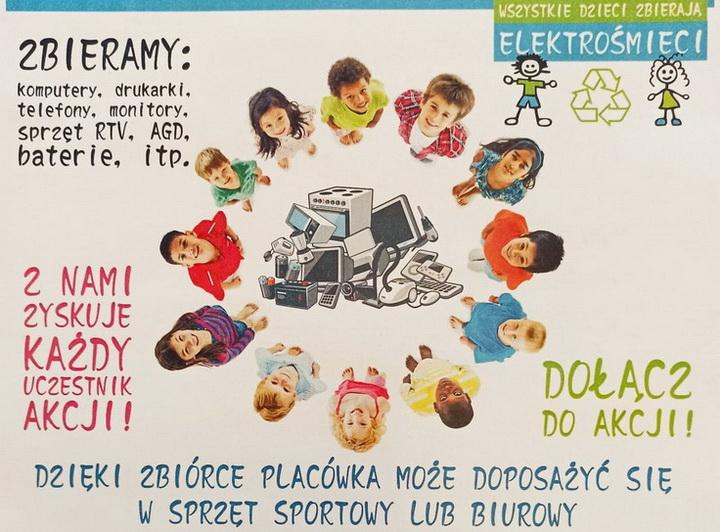Dzieci zbierają elektrośmieci 2021